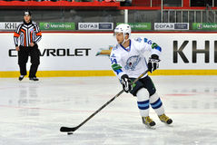 Konstantin Rudenko himself with the puck Stock Images
