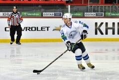 Konstantin Rudenko lui-même avec le galet Images stock
