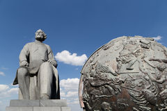 Konstantin Tsiolkovsky Monument, Moscow, Russia Royalty Free Stock Photo
