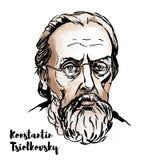 Konstantin Tsiolkovsky portret ilustracji