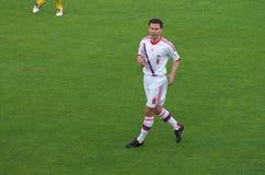 Konstantin Zyrianov, joueur de football Images stock