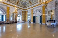 Konstantinovsky Kongresowy pałac w Strelna Wnętrze jeden th obraz royalty free