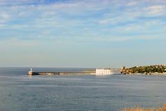 Konstantinovsky Ravelin в заливе Севастополя. Крым Стоковое фото RF