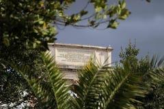 Konstantinsbogen in Roman Forum Stockfotografie