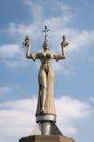 Konstanz, Germany: Imperia Statue. On a blue sky stock photo