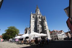 The Konstanz Minster with terrasse in Germany Royalty Free Stock Photos