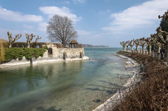 Konstanz, Niemcy: Rhine rzeki ujście fotografia stock
