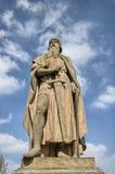 Konstanz Tyskland: Staty på den Rhine River kusten royaltyfria foton