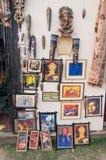 Konstarbete, indiska hemslöjder som är ganska på Kolkata Royaltyfri Bild