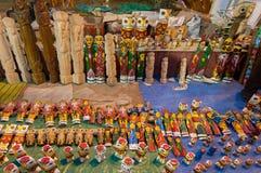 Konstarbete, indiska hemslöjder som är ganska på Kolkata Arkivbilder