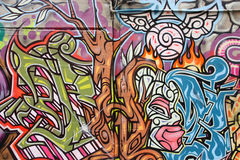 konstAustralien grafitti Arkivfoto