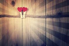 Konstbakgrund av Valentine Day, tappningfilterbild Royaltyfri Foto