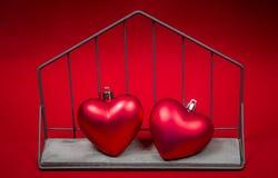 Konstbakgrund av Valentine Day, tappningfilterbild Fotografering för Bildbyråer