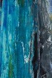 konstbakgrund med blått och grå färger borstar slaglängder av olje- målarfärg Royaltyfri Bild