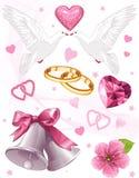 konstbröllop Royaltyfri Foto