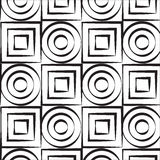 Konstcirkel och fyrkantvektormodell Arkivfoton