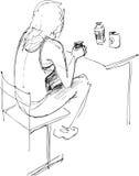 konstdeltagare Stock Illustrationer