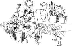 konstdeltagare Royaltyfri Illustrationer