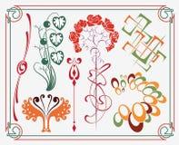 konstdesignnouveau royaltyfri illustrationer