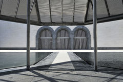 konstdoha islamiskt museum qatar Arkivbild