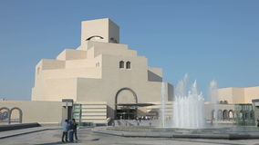 konstdoha islamiskt museum qatar arkivfilmer