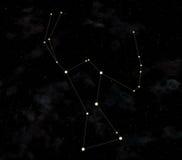 Konstellation ist Orion lizenzfreie abbildung