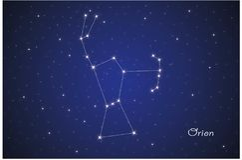 Konstellation von Orion vektor abbildung