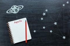 Konstellationer Aquila Fotografering för Bildbyråer