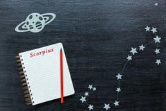 Konstellationer Scorpius Arkivbilder