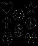 konstellationset vektor illustrationer