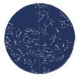 Konstellationssternkundliche karte stock abbildung
