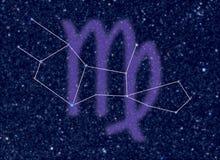 konstellationvirgozodiac vektor illustrationer