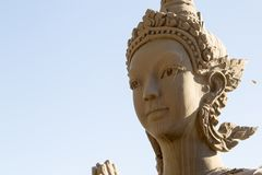 Konsten av buddism Överflödet av Buddhastatyer i Buddha parkerar, Vientiane laotiska PDR royaltyfri bild