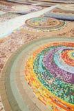 Konsten på golvet Arkivfoton