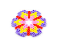 konster bead blommashap Royaltyfri Bild