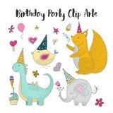 Konster för gem för vektor för födelsedagparti stock illustrationer