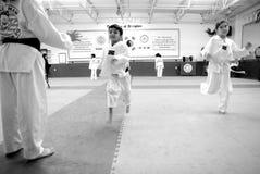 konster gör krigs- tae för koreansk kwon Royaltyfri Bild
