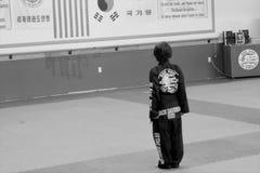 konster gör krigs- tae för koreansk kwon Arkivfoton