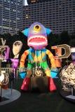 Konster i den parkeraMardi Gras händelsen i Hong Kong Arkivfoton