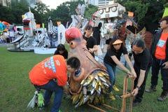 Konster i den parkeraMardi Gras händelsen i Hong Kong Royaltyfri Fotografi