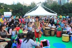 Konster i den parkeraMardi Gras händelsen i Hong Kong Royaltyfria Foton
