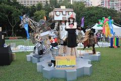 Konster i den parkeraMardi Gras händelsen i Hong Kong Arkivbilder