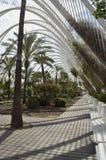 konster på burk staden de hemisferic l les palau, reina somvetenskaper ser sofia Valencia Spanien Royaltyfri Foto