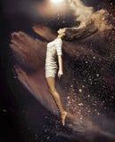 Konstfoto av balettdansören Arkivfoton