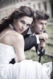 Konstfoto av ett attraktivt bröllop Arkivbilder