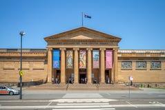 Konstgalleri av New South Wales i sydney arkivfoton
