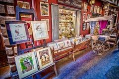 Konstgalleri i Vieux Nice, Frankrike Royaltyfria Foton