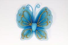konstgjord blå fjäril Fotografering för Bildbyråer