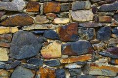 konstgjord blå ljus stenvägg Royaltyfria Bilder