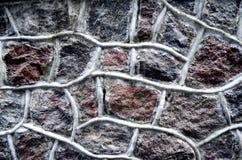 konstgjord blå ljus stenvägg Fotografering för Bildbyråer